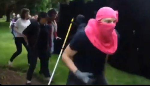 VIDEO: Antifa takes on frying pan man, loses